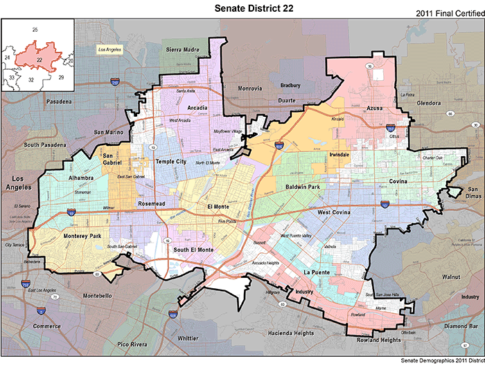 ca district 22 see map